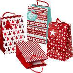 Profissimo Geschenktüte Weihnachten mini rot/weiß