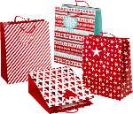 Profissimo Geschenktüte Weihnachten maxi rot/weiß