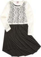 Mädchen-Kleid mit Spitzentop