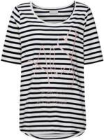 Damen T-Shirt mit Streifen und Print