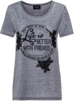 Damen T-Shirt mit Oil-Washed-Effekt