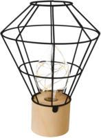 LED Lampe mit schwarzer Metallformation