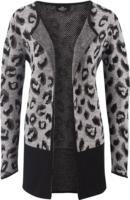 Damen Strickjacke mit Leopardenmuster
