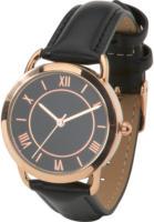 Damen Armbanduhr in Schwarz und Rosegold