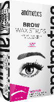 andmetics BROW WAX STRIPS Women Enthaarungsstreifen Augenbrauen