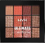 NYX PROFESSIONAL MAKEUP Lidschatten Ultimate Shadow Palette Multi-Finish Warm Rust 08