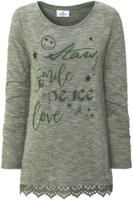 Damen Pullover mit Message-Print
