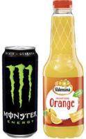 Valensina 1 Liter oder Monster Energy Drink* 0,5 Liter versch. Sorten, (*koffeinhaltig), jede Dose/Flasche