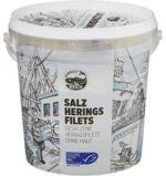 Feinste Salzheringsfilets aus MSC-zertifiziertem Fischfang, in einer Salzlake gereift, ohne Haut, jeder 1200-g-Eimer/1000 g Fischeinwaage