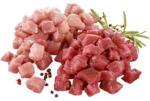Fonduefleisch, gemischt aus Schweine- und Rindfleisch, je 1 kg