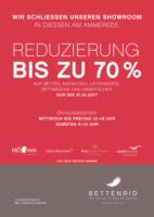 SCHLIESSUNG DES BETTENRID SHOWROOMS IN DIESSEN AM AMMERSEE - REDUZIERUNGEN BIS ZU 70 %