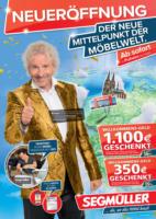 Segmüller: Der neue Mittelpunkt der Möbelwelt.